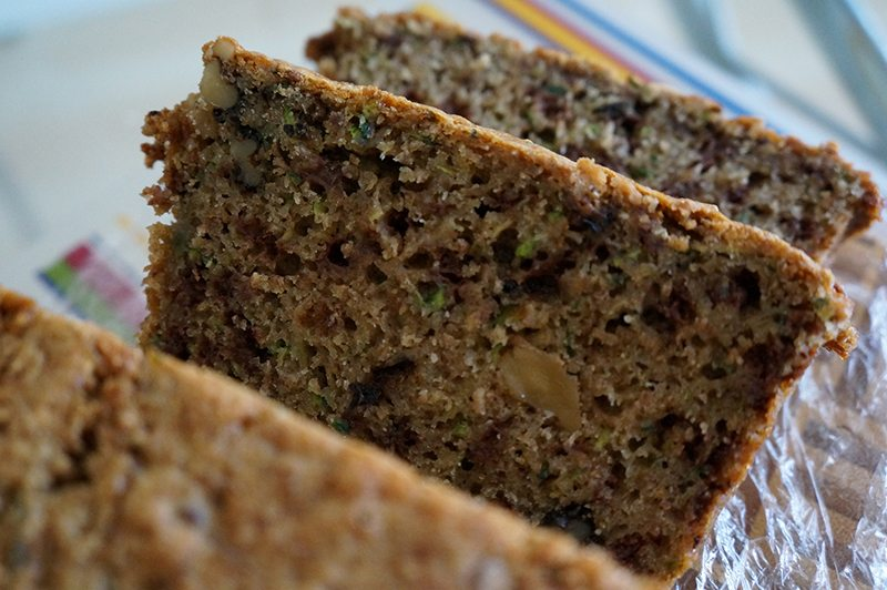 Zucchini Bread with Cloves and Raisins