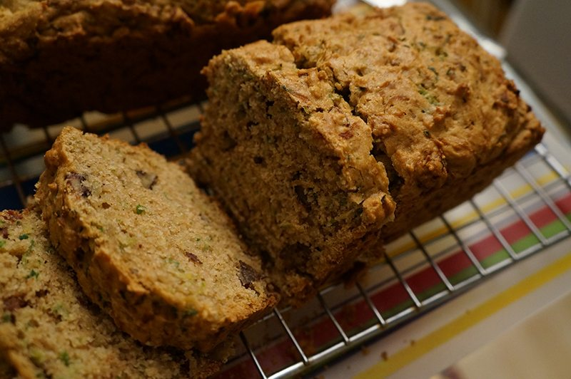Zucchini Bread with a Homemade Blend of Gluten-Free Flours
