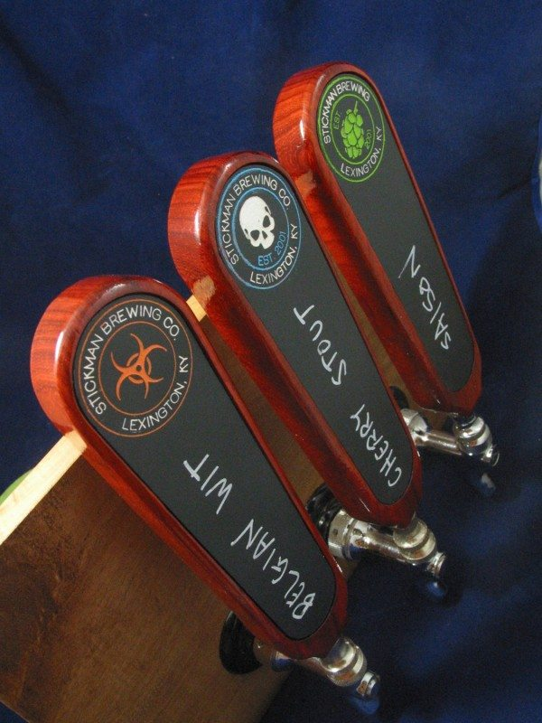 Hardwood Tap Handles With Chalk Board