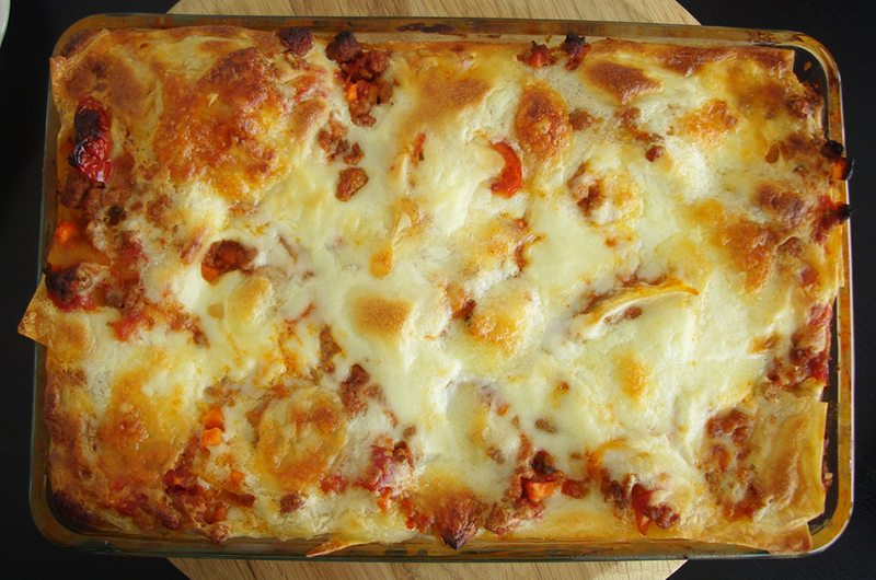 Beef Lasagne with Homemade Gluten-Free Pasta
