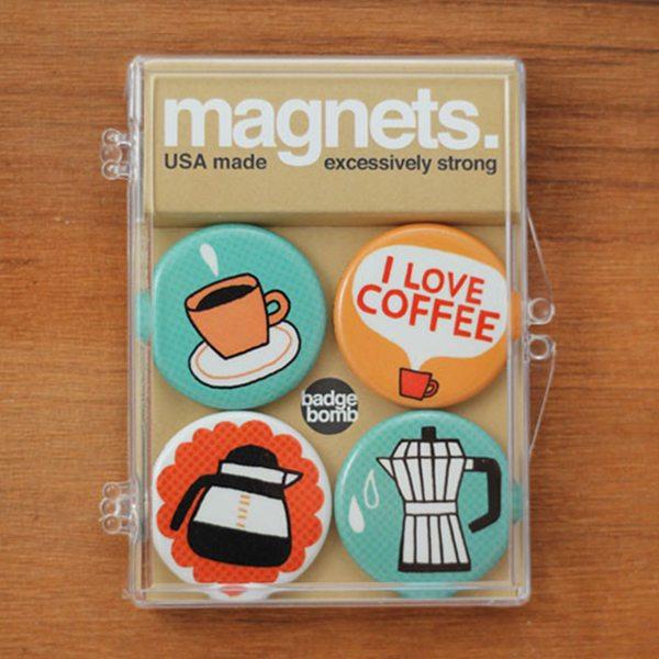 'I Love Coffee' Magnet Set