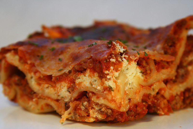 Italian Sausage Lasagne with Tinkyada Brown Rice Noodles