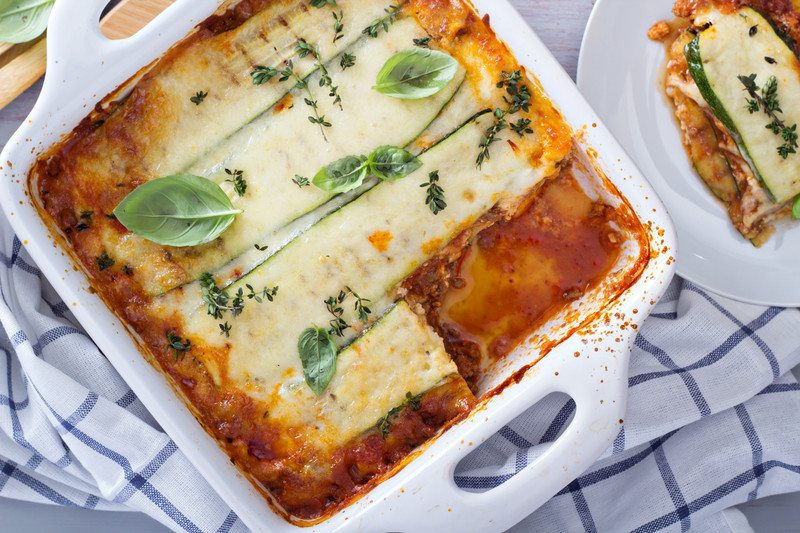 Vegan Zucchini and Spinach Lasagne