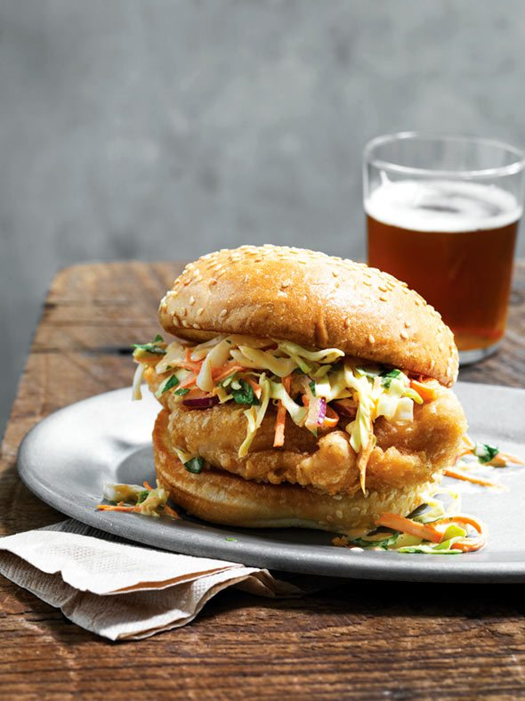 Beer Battered Chicken Sandwich