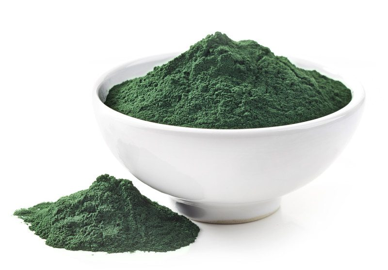 Bowl of Spirulina powder