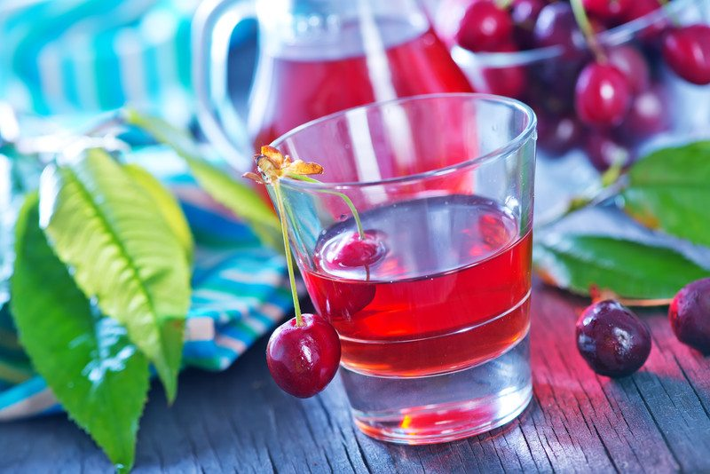 Tart cherries and tart cherry juice