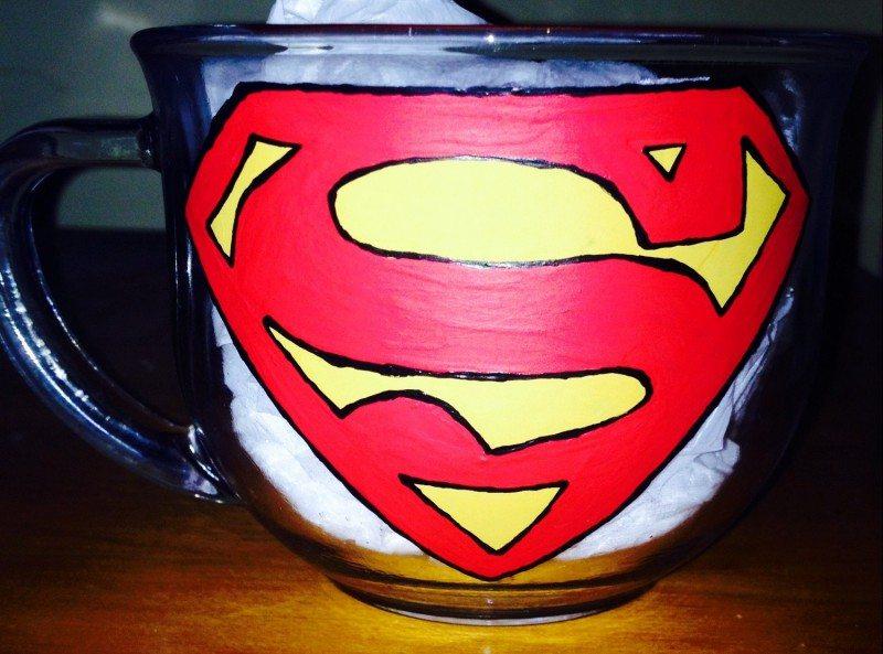 Superman Logo Tea Cup