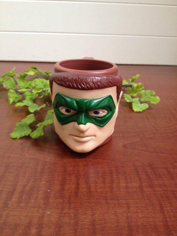 Green Lantern Head Plastic Mug