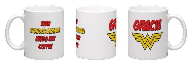 Personalized Wonder Woman Mug