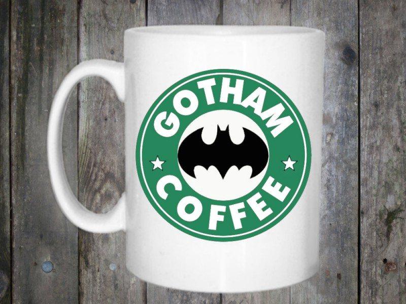 Gotham City Starbucks-Style Logo