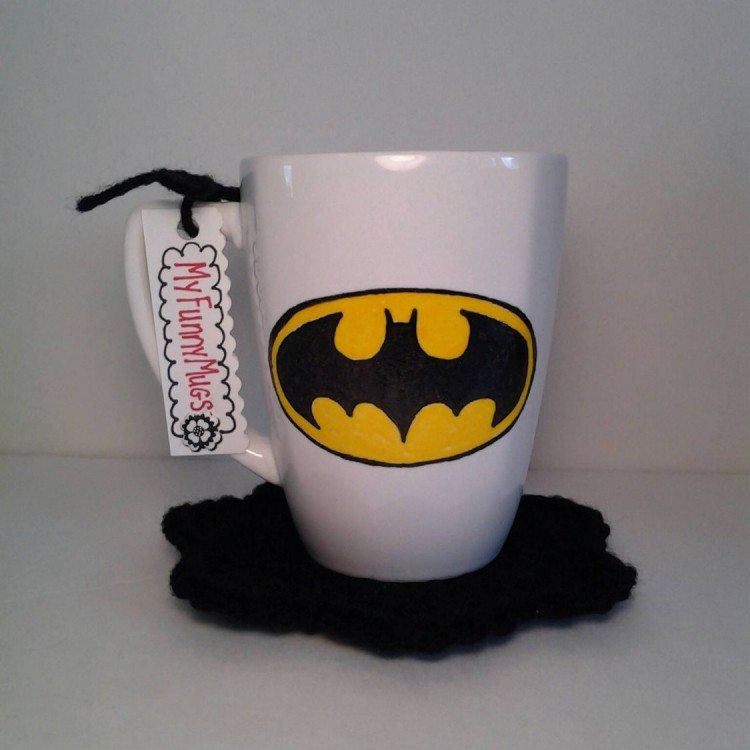 Hand Painted Batman Logo