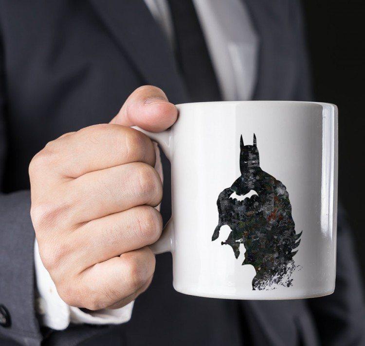 Watercolor Batman Cowl