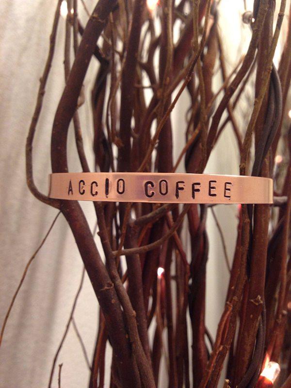 Accio Coffee Stamped Cuff