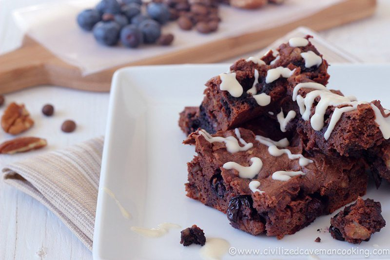 Blueberry Espresso Brownies