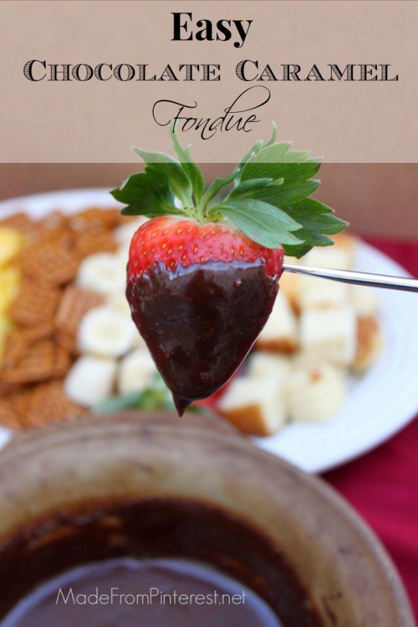 Easy Chocolate Caramel Fondue