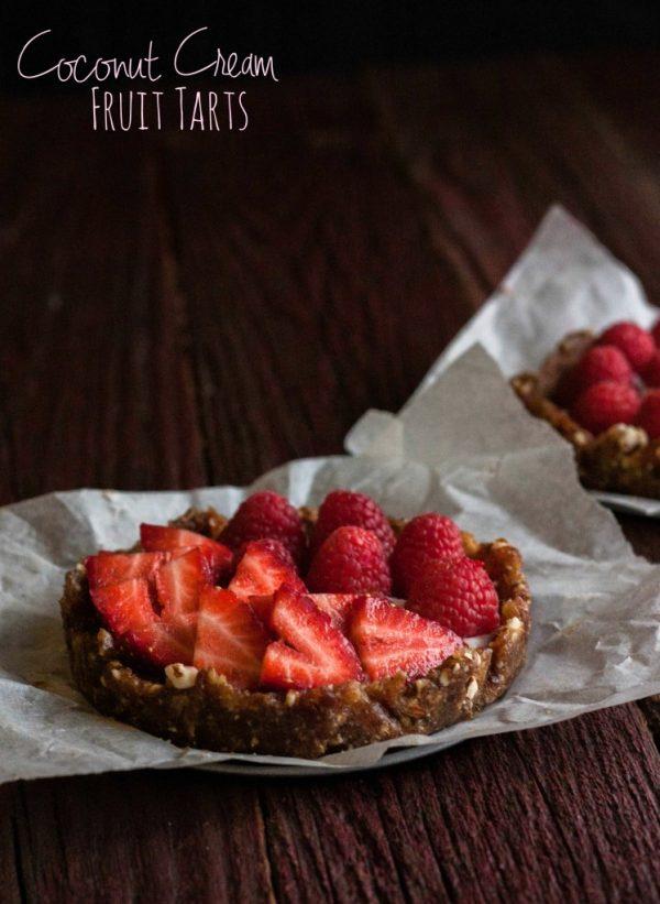 Coconut Cream Fruit Tarts
