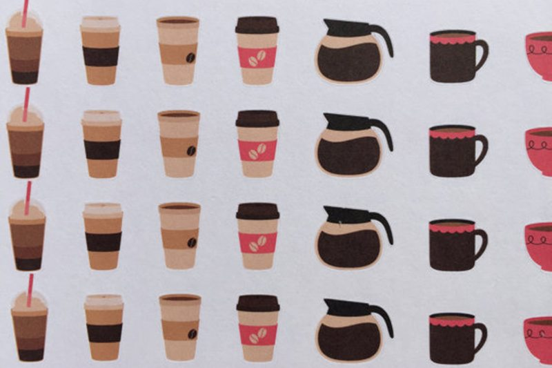 Coffee Themed Stickers