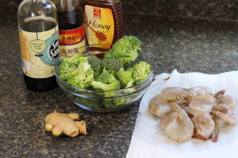 Honey Garlic Shrimp and Broccoli Ingredients