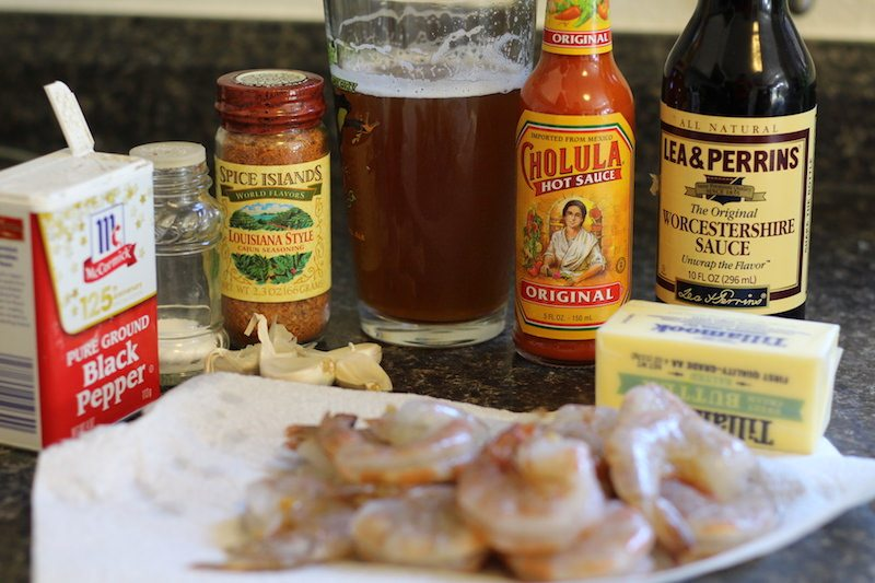 New Orleans BBQ Shrimp ingredients