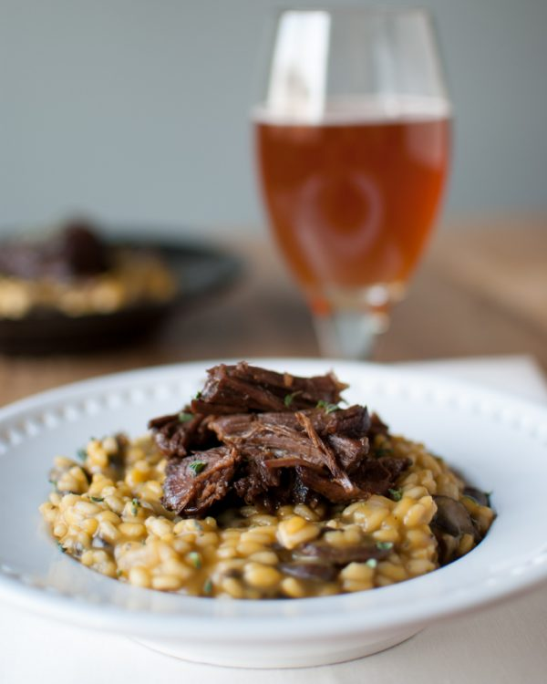 Beer Risotto with Chocolate Stout Short Ribs