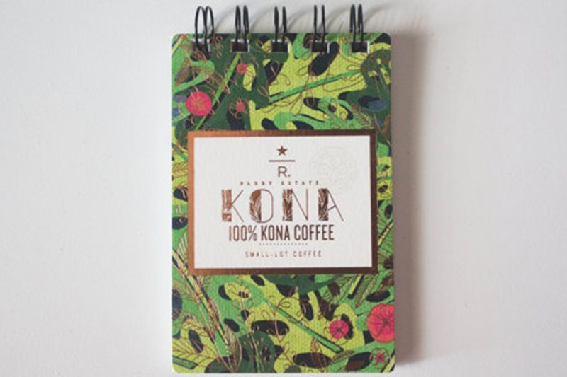 Recycled Starbucks Reserve Series Coffee Bag Notebook