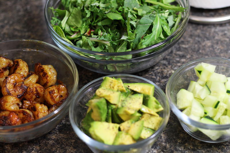 Shrimp & Avocado Salad ingredients 2