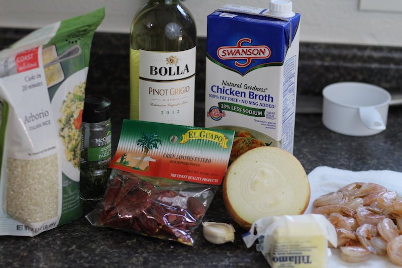 Shrimp Risotto ingredients