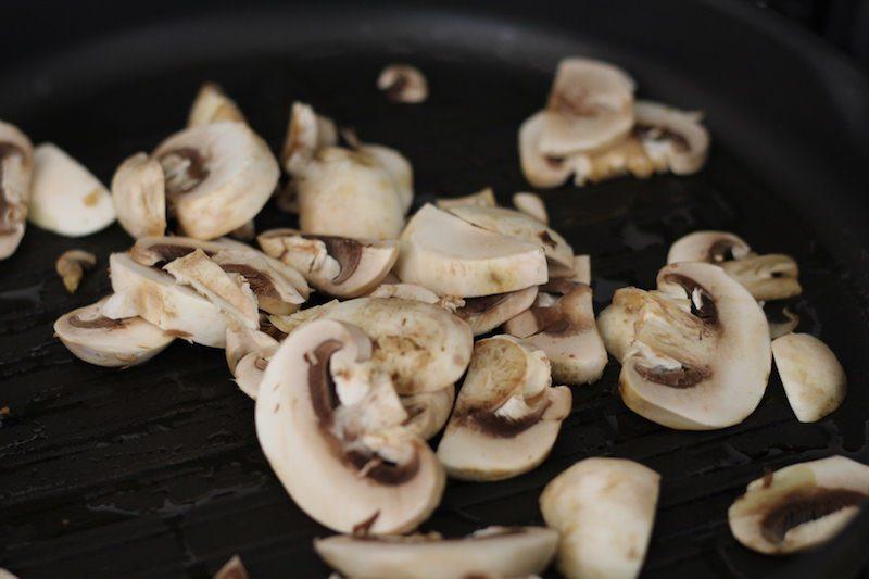 Shrimp and Chickpea Pasta mushrooms