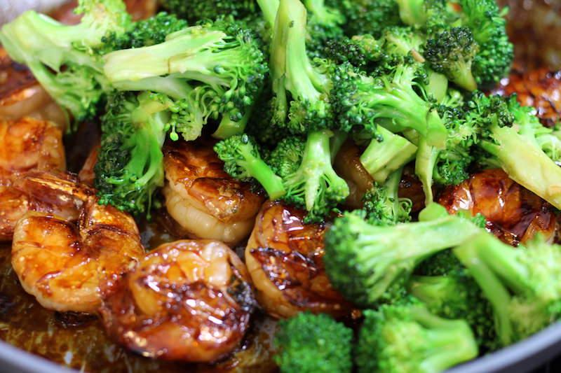 add broccoli to shrimp