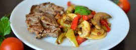 Balsamic Beef with Bell Peppers and Mushrooms