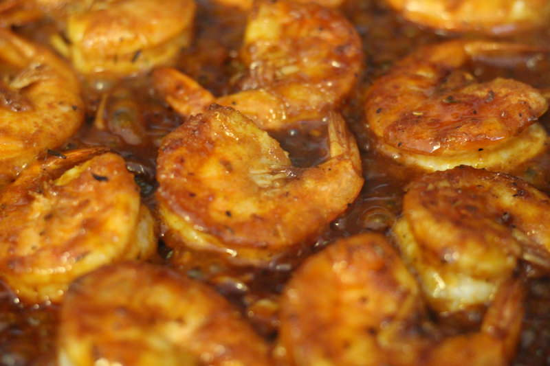 bbq shrimp cooking 2