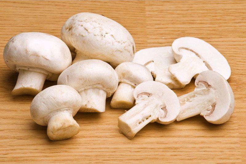 Mushrooms on a board