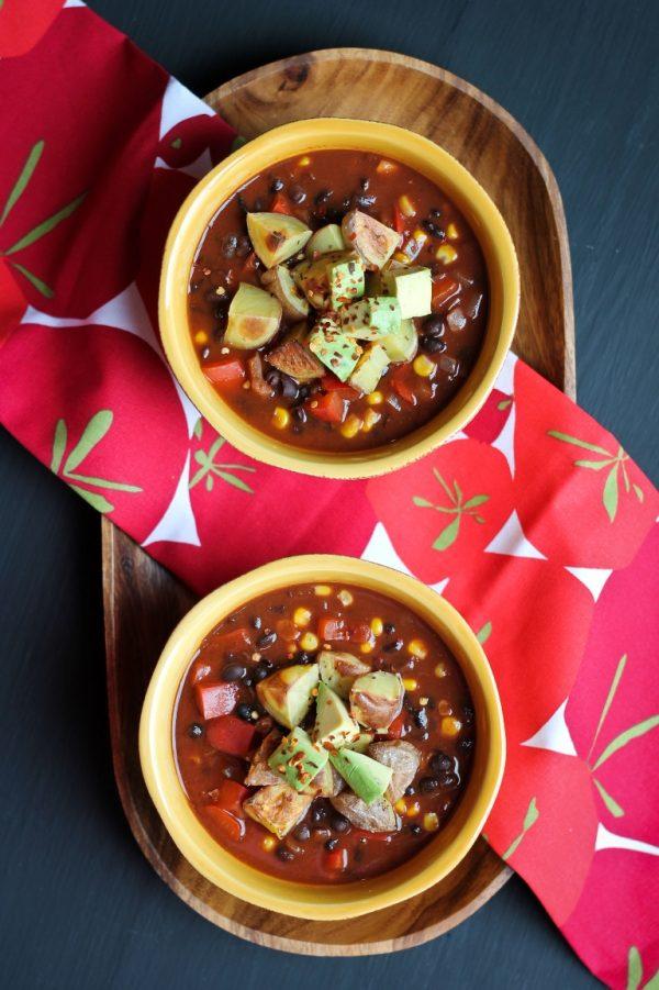 Cocoa Black Bean Chili