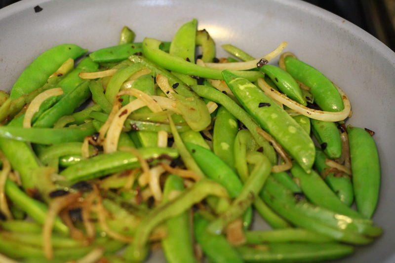 cooking stir fry veggies