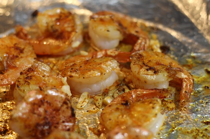 finished baked bang bang shrimp