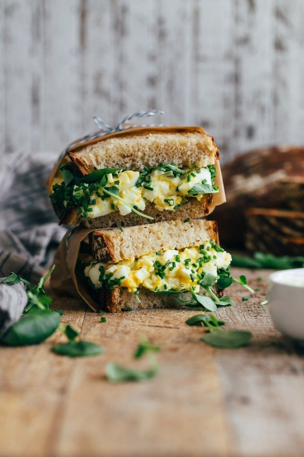High Maintenance Egg Salad Sandwich