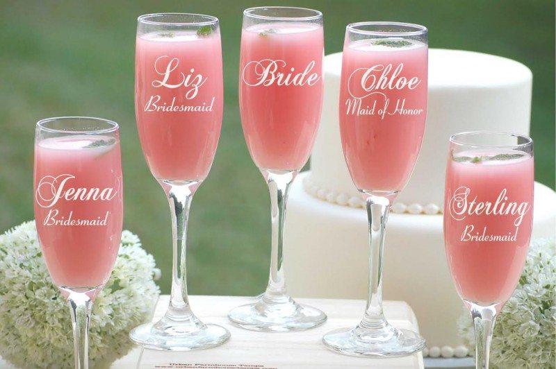 42 Custom Wedding Glassware Ideas From The Geniuses At Etsy