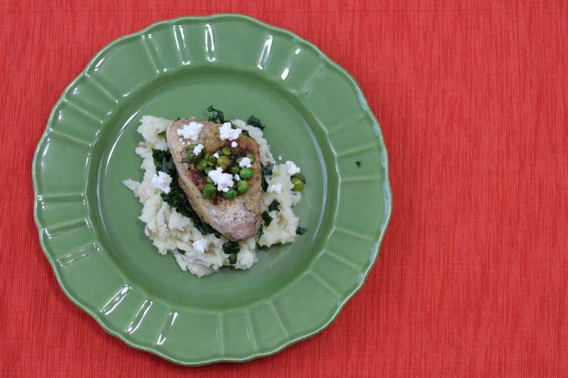 Spiced Pork Chops & Mashed Potatoes with Kale, English ...