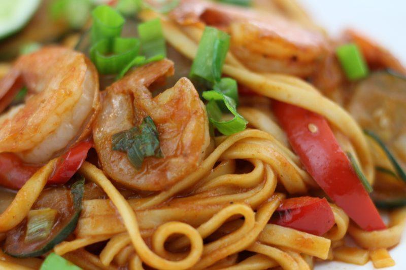 sriracha shrimp closeup