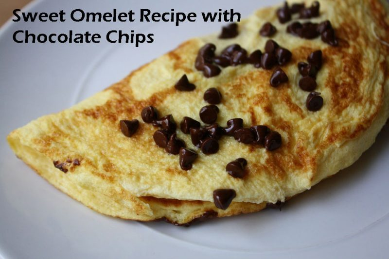 Sweet Omelet with Chocolate Chips