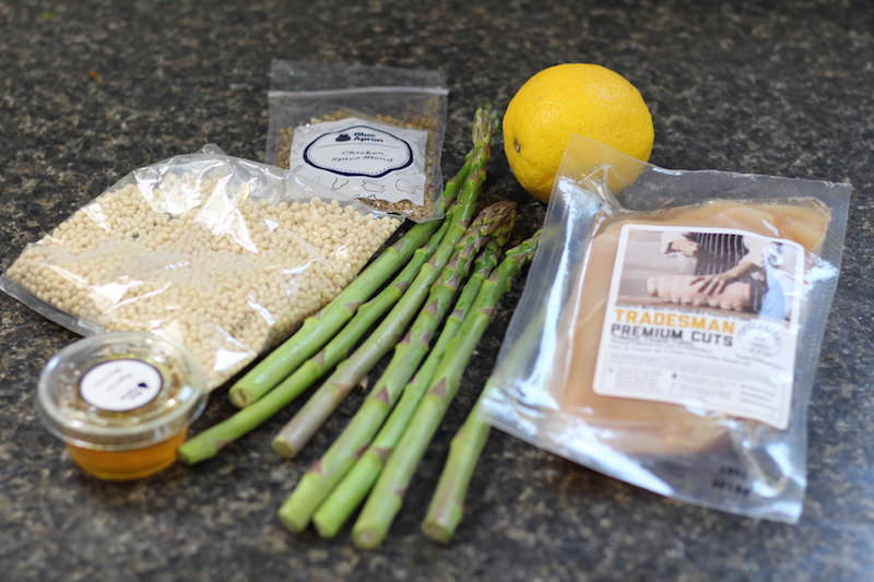 za atar chicken & pearl couscous ingredients