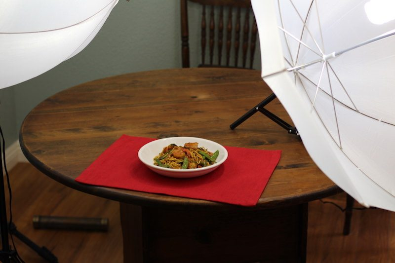 zucchini noodle stir fry final photography