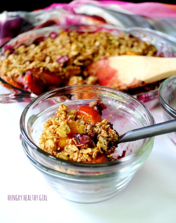 Easy Peach Blueberry Crisp