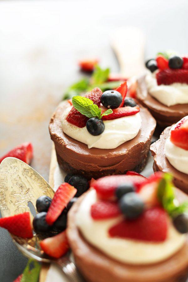 No-Bake Chocolate Cheesecakes