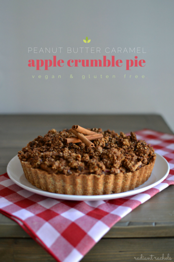 Peanut Butter Caramel Apple Crumble Pie