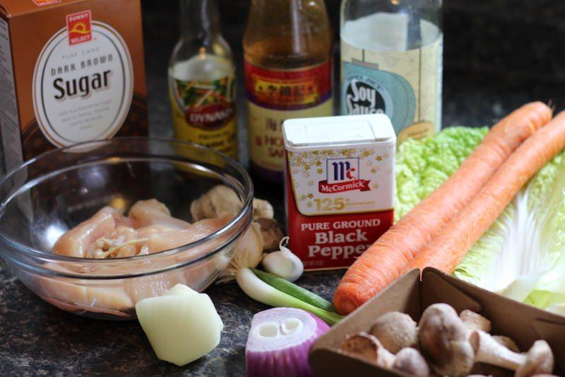 Chicken Lo Mein Ingredients