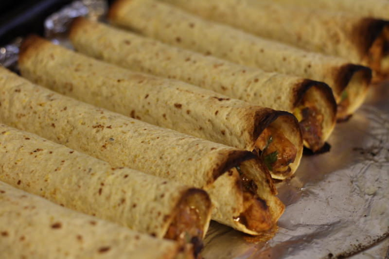 Chicken Taquitos baked