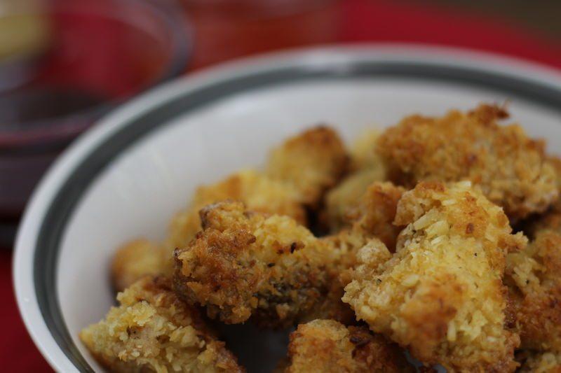 Crispy Coconut Chicken Closeup