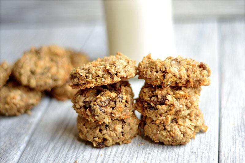 Healthy Carrot Cake Cookies