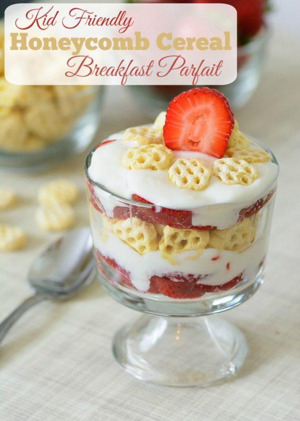 Honeycomb Cereal Breakfast Parfait